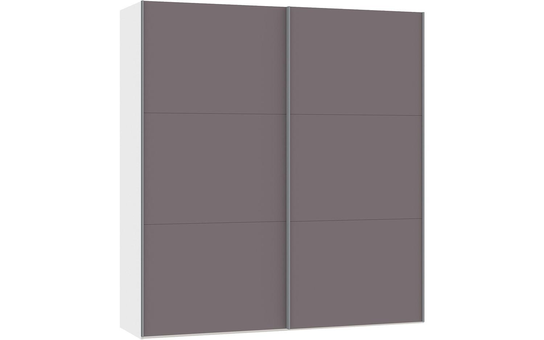 Kledingkast Easy Storage Sdk, 200 cm breed, 220 cm hoog, 2x 3 paneel glas schuifdeuren |  8718823042887